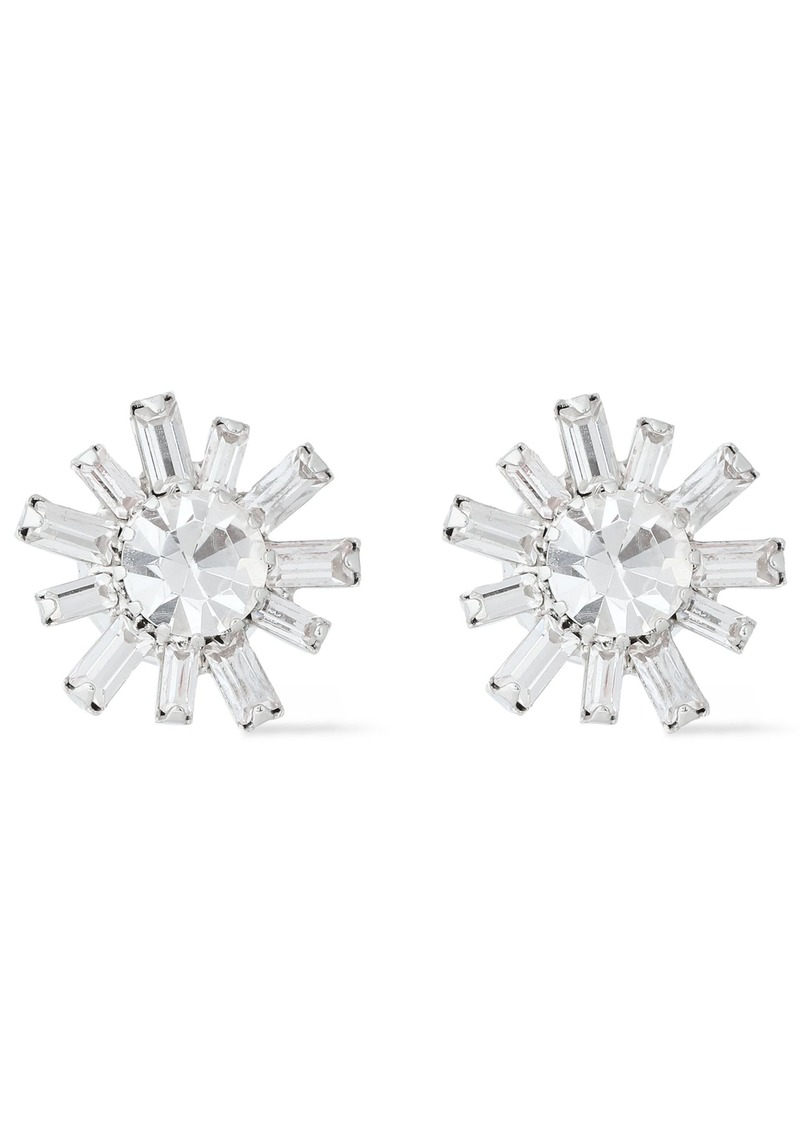 Elizabeth Cole Woman Silver-tone Swarovski Crystal Earrings Silver
