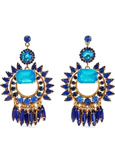 Elizabeth Cole Woman Simcha 24-karat Gold-plated Stone And Swarovski Crystal Earrings Blue