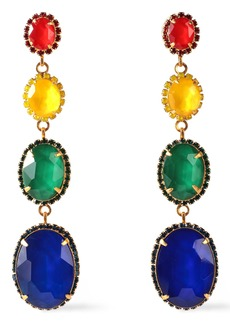 Elizabeth Cole Woman The Calhoun 24-karat Gold-plated Swarovski Crystal And Stone Earrings Multicolor