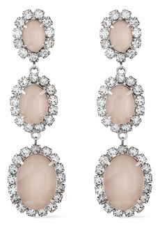 Elizabeth Cole Woman The Lawrence Silver-tone Swarovski Crystal And Stone Earrings Silver