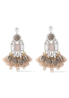Elizabeth Cole Woman The Olette Silver-tone Swarovski Crystal Bead And Tassel Earrings Silver