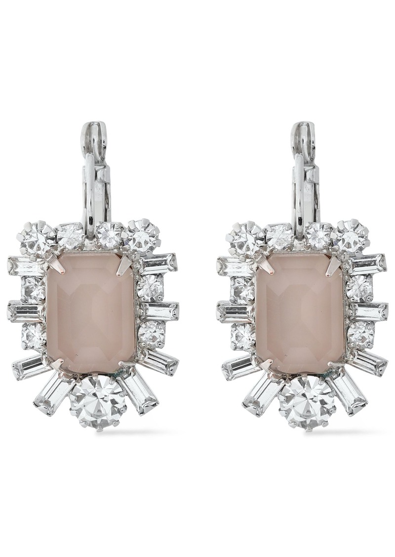 Elizabeth Cole Woman The Petrina Silver-tone Swarovski Crystal And Stone Earrings Silver