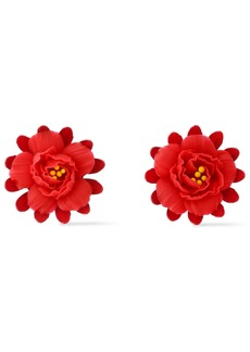 Elizabeth Cole Woman The Slater 24-karat Gold-plated Enamel And Clay Earrings Tomato Red