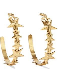 Elizabeth Cole Woman Tristan 24-karat Gold-plated Hoop Earrings Gold