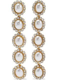 Elizabeth Cole Woman Von 24-karat Gold-plated Crystal Earrings Gold