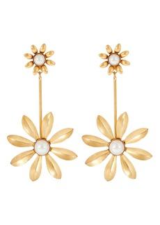 Elizabeth Cole Emmalyn Floral Drop Earrings