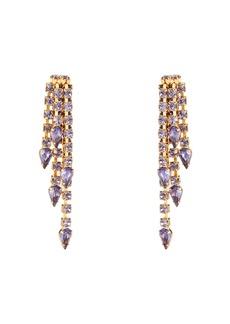 Elizabeth Cole Hayden Crystal Fringe Earrings
