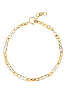 Elizabeth Cole Irene Pearl Chain Necklace