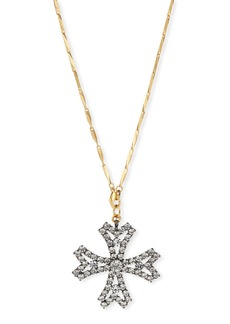 Elizabeth Cole Jacalyn Crystal Cross Pendant Necklace