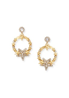 Elizabeth Cole Kelsey Hoop Drop Earrings w/ Stars
