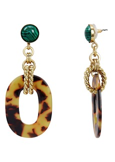Elizabeth Cole Printed Drop Earrings