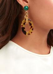 Elizabeth Cole Printed Drop Earrings