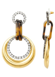 Elizabeth Cole Mila Circle Drop Earrings
