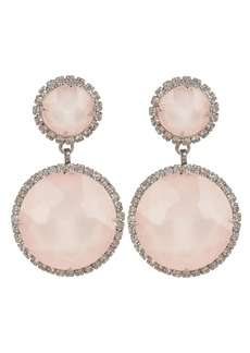 Elizabeth Cole Pink Quartz Drop Earrings