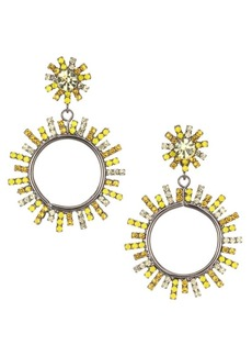 Elizabeth Cole Rays of Sunshine Everly Swarovski & Austrian Crystal Sundial Stone Drop Earrings