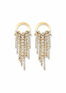 Elizabeth Cole Rowan Crystal Dangle Earrings  Clear