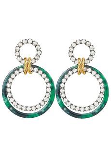 Elizabeth Cole Scarlet Malachite Earrings
