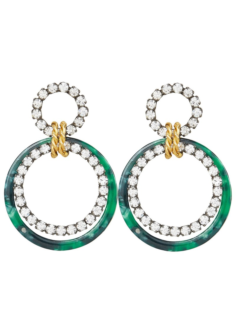 Elizabeth Cole Scarlet Malachite Earrings