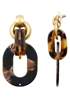 Elizabeth Cole Sophia Interlocking Drop Earrings