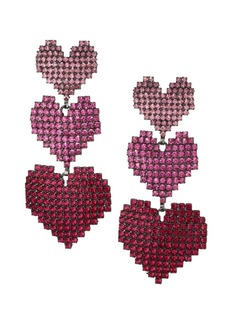 Elizabeth Cole Valentina Heart Ombré Earrings