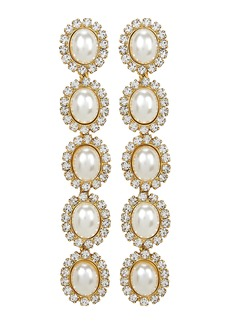 Elizabeth Cole Von Drop Pearl Earrings