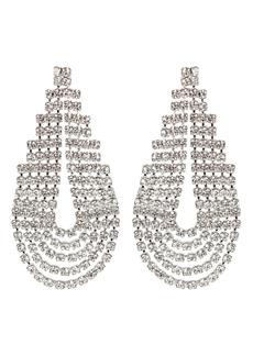 Elizabeth Cole West Crystal Statement Earrings