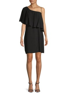 Asymmetrical Neckline Shift Dress