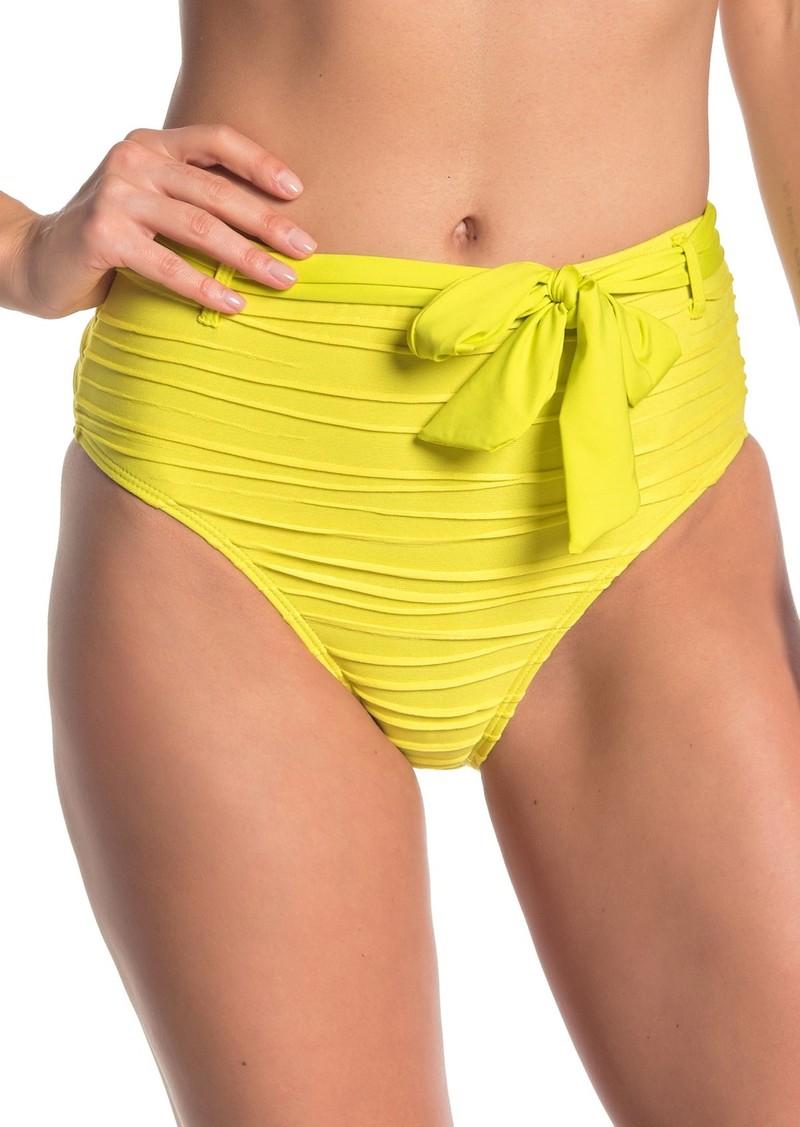 Ella Moss Belted High Waist Bikini Bottoms