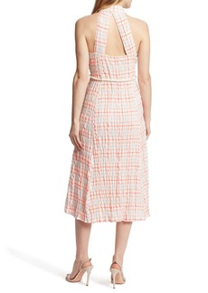 Ella Moss Christina Gingham Waist Tie Midi Dress