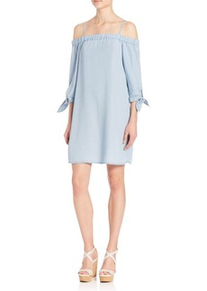 Ella Moss Cold-Shoulder Chambray Dress