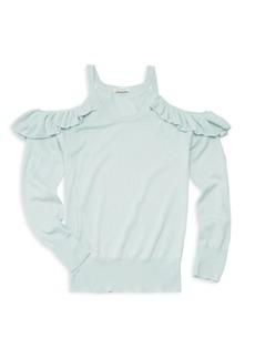 Ella Moss Girl's Cold Shoulder Sweater
