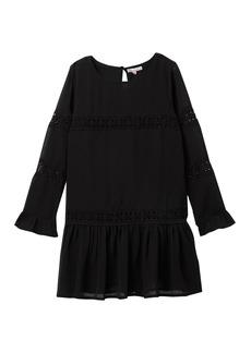 Ella Moss Crinkle Chiffon Lace Dress (Big Girls)