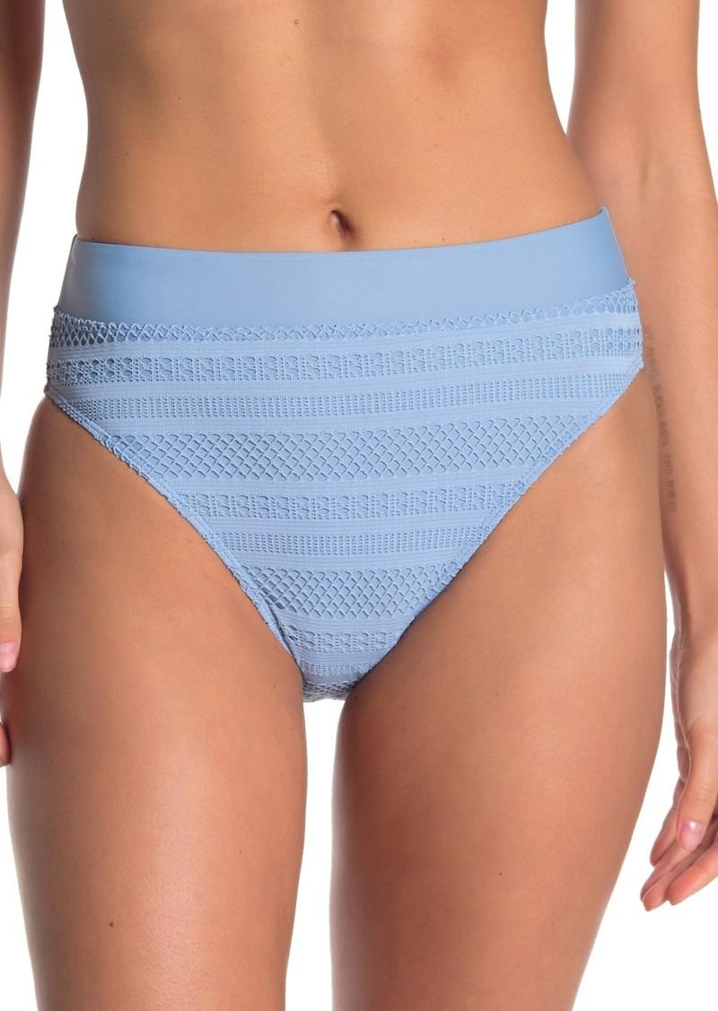 Ella Moss Crochet High Waist Bikini Bottoms