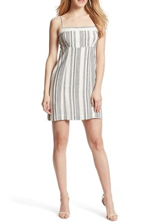 Ella Moss Dorothy Stripe Linen Blend Mini Dress