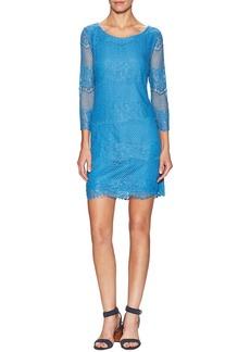 Ella Moss 3/4 Scalloped Lace Dress