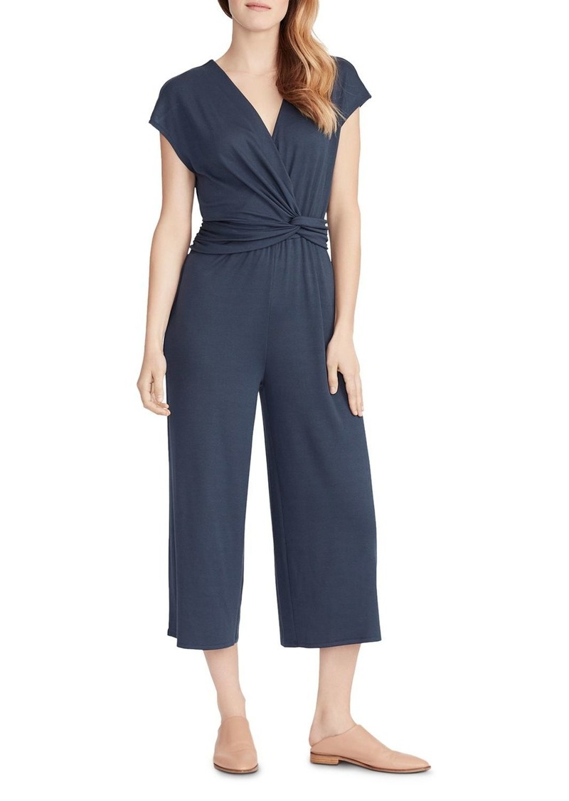 Ella Moss Addison Cropped Knot-Detail Jumpsuit