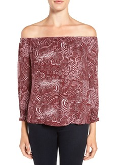 Ella Moss 'Adriana' Floral Print Off the Shoulder Top