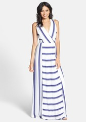 Ella Moss 'Anabel' Stripe Surplice Maxi Dress