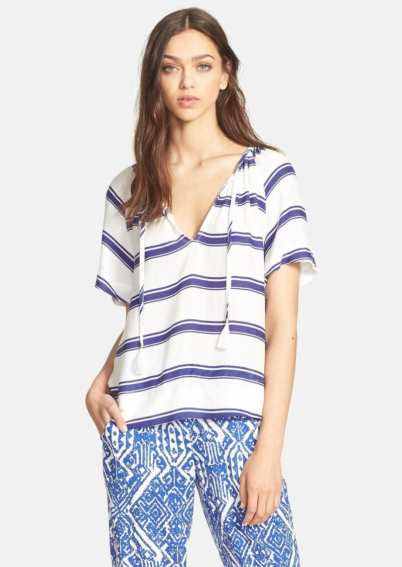 Ella Moss 'Anabel' Stripe V-Neck Top