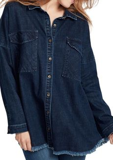 Ella Moss Audrey Frayed Denim Top