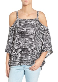 Ella Moss 'Ayeli' Print Cold Shoulder Top