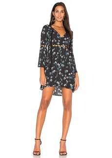 Ella Moss Bell Sleeve Dress in Black. - size L (also in M,S,XS)