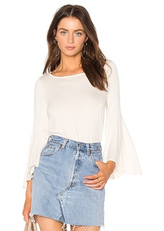 Ella Moss Bell Sleeve Top in Cream. - size L (also in M,S,XS)