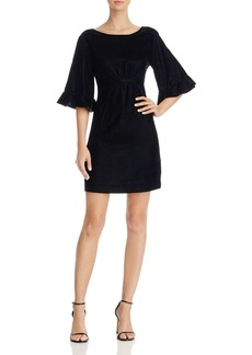 Ella Moss Bell-Sleeve Velvet Mini Dress