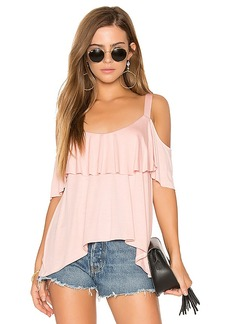 Ella Moss Bella Cold Shoulder Top in Pink. - size L (also in M,S)