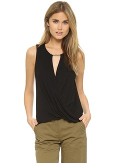 Ella Moss Bella Drape Sleeveless Blouse