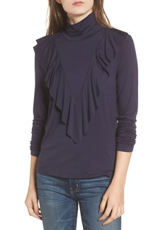 Ella Moss Bella Ruffle Turtleneck Top