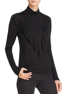 Ella Moss Bella Ruffled Mock-Neck Top