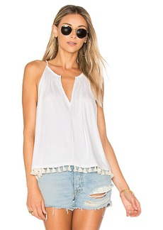 Ella Moss Bella Tassels Tank in White. - size L (also in M,S,XS)