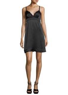 Ella Moss Bianka Sweetheart-Neck Sleeveless Satin Mini Dress